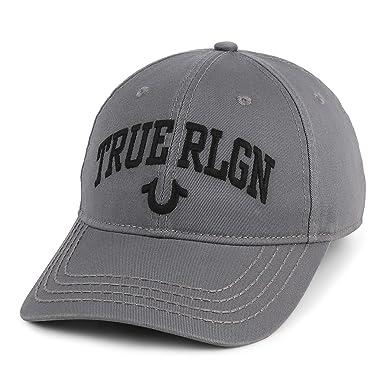 4a0f62843 Amazon.com: True Religion Men's Arched Core Logo Ball Cap, Grey ...