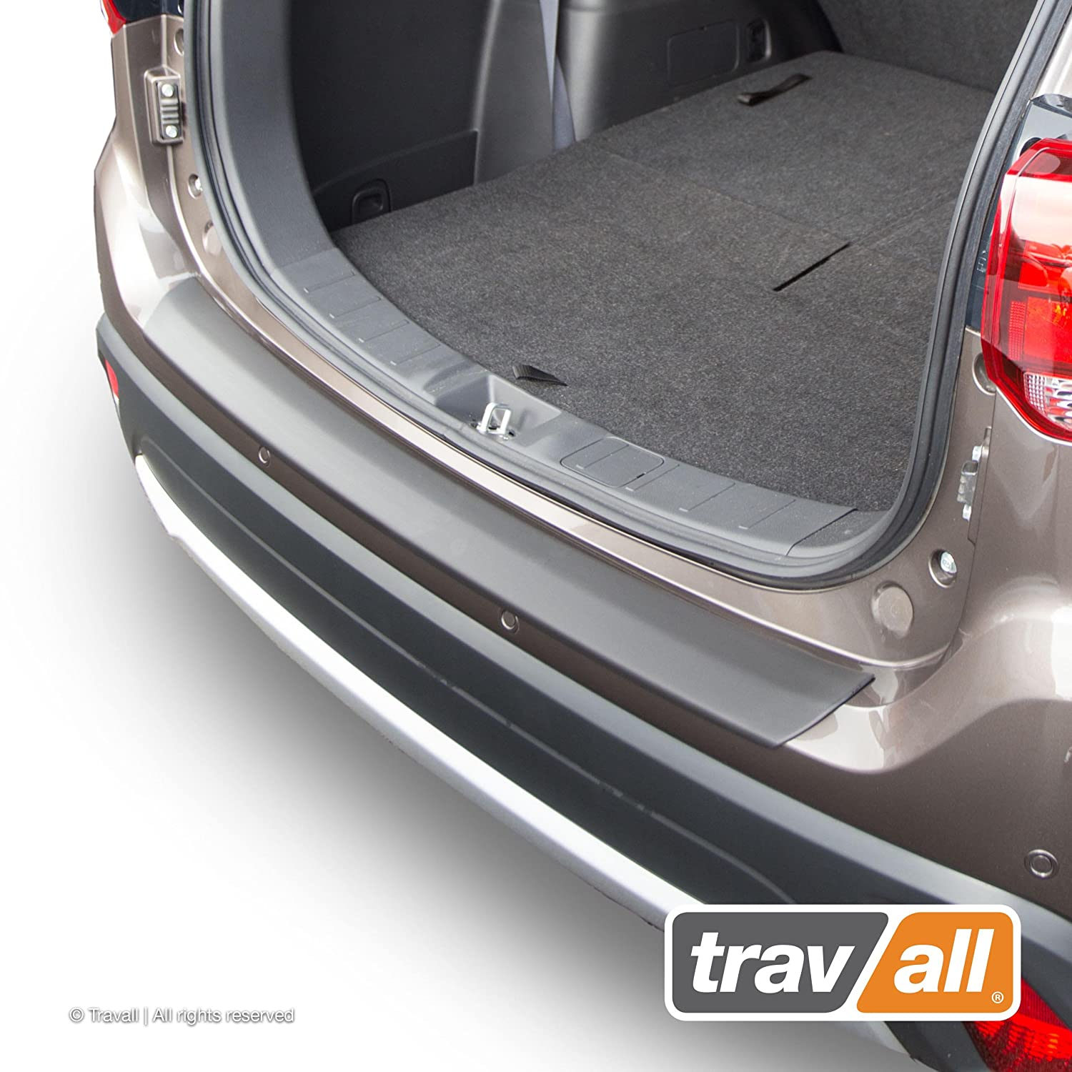 Travall Protector TBP1082P - Vehicle-Specific Black Plastic Moulded Rear Bumper Protector [Smooth]