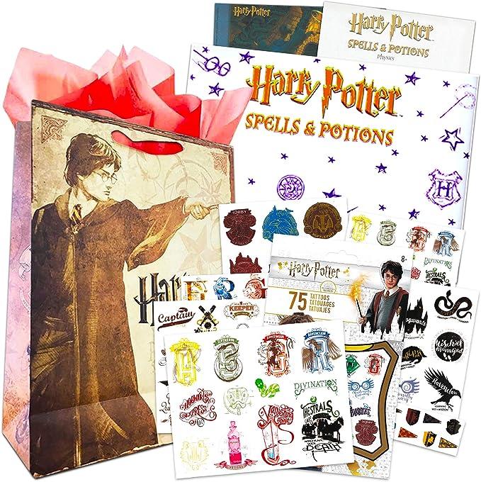 HARRY POTTER Temporary Tattoos Adult Kids Hogwarts Body Art Transfers Gifts