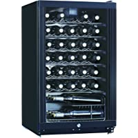 Midea WHS-144W1 35-Bottle Free Standing Wine Cooler Refrigerator, Black