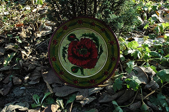 Amazon sale10 offhand painted red poppy on wooden plate sale10 offhand painted red poppy on wooden plate mightylinksfo