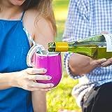 Maars Bev Steel Stemless Wine Glass Tumbler, 12 oz