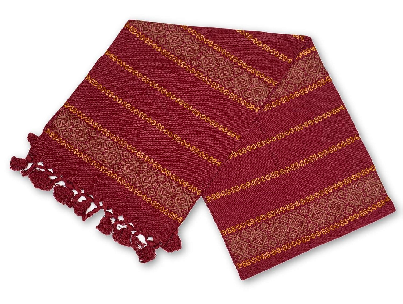 Mayan Arts テーブルランナー 手織り レッドトーン テーブルクロス ショール ファミリーディナー お祝い用カラー 感謝祭 グアテマラの手作り スタイル2  B07K7Y711V