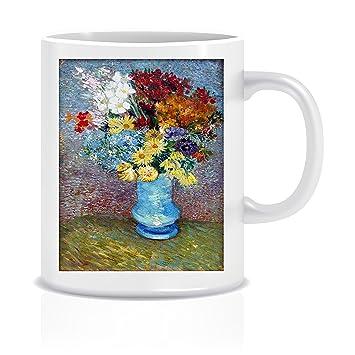 Amazon Flowers In A Blue Vase Van Gogh Coffee Tea White