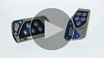 1 Pack Pilot Automotive Pilot PM-2312B2 Voltage Pedal Pad Set for Automatic Transmissions Black//Blue