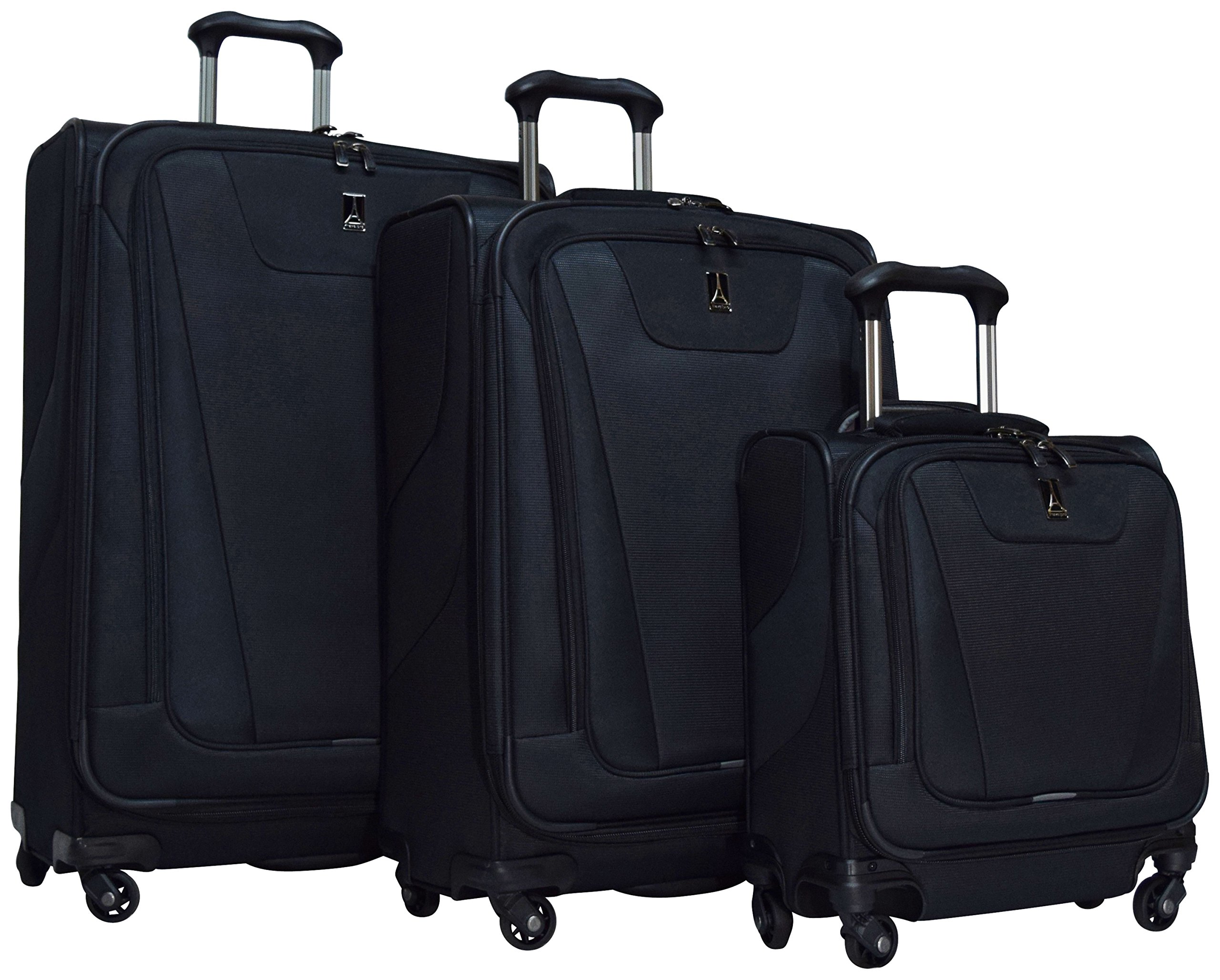 Travelpro Maxlite 4 3-Piece Luggage Set: 29'', 25'' Expandable Spinners and Under Seat Bag Carry On (Black)
