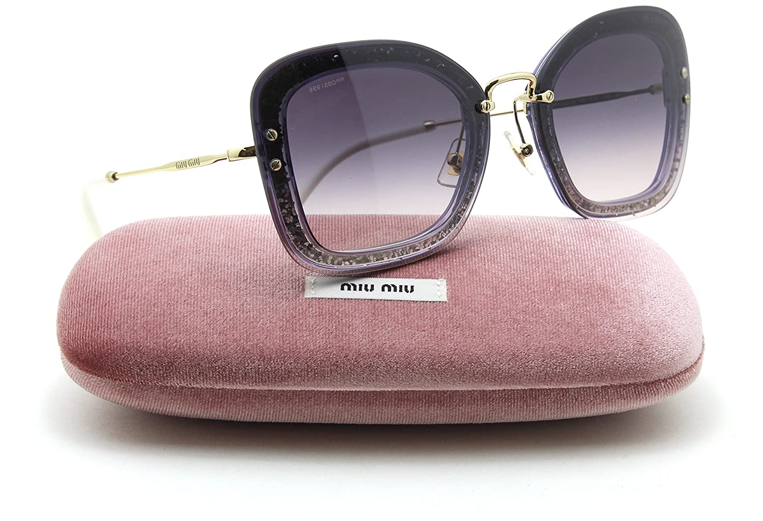 be8100cab305 Miu Miu MU 02TS REVEAL GLITTER Collection Women Gradient Sunglasses  86L-NJ0: Amazon.co.uk: Clothing
