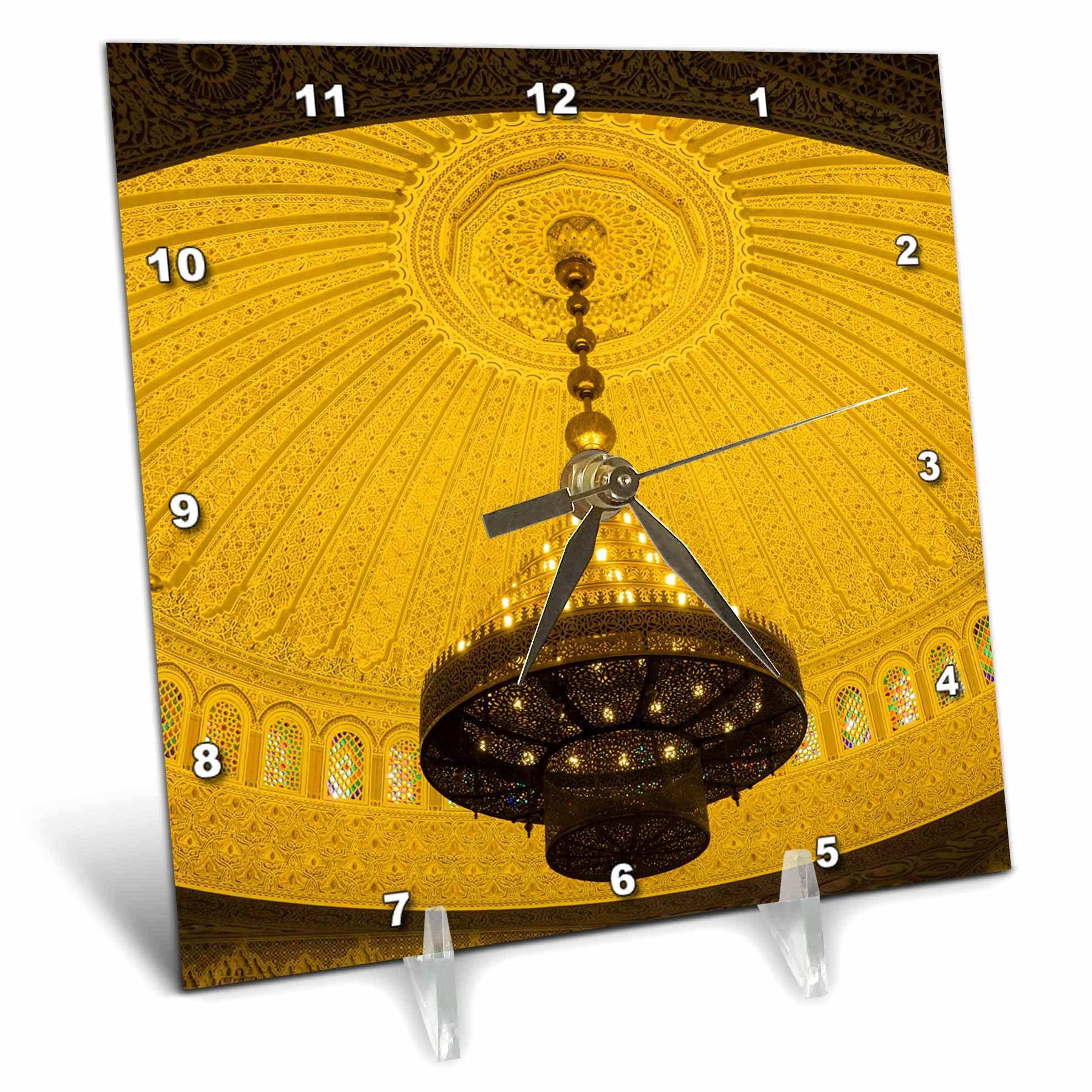 3dRose Danita Delimont - Architecture - Morocco, Meknes. Architectural detail of hotel interior. - 6x6 Desk Clock (dc_276496_1)