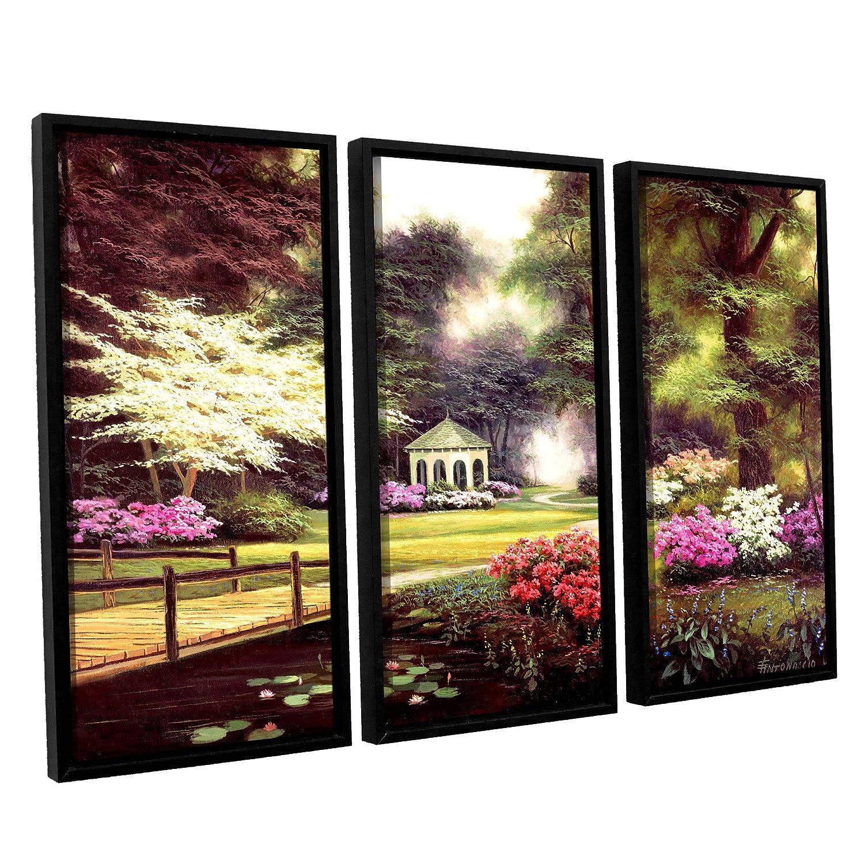 Egidio Antonaccio Azalea Secrets 3 Piece Gallery Wrapped Canvas Set 36X54