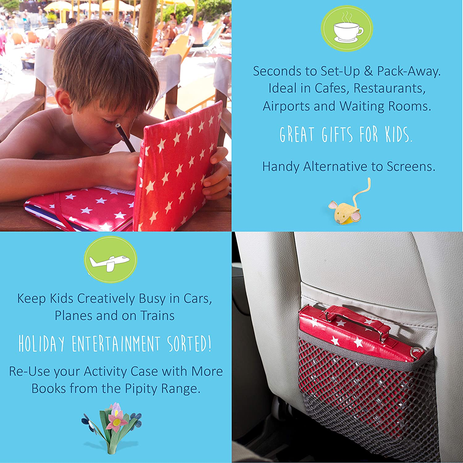 Great Gifts for Girls and Boys Ages 6 7 8 9 10 Years Old /… Art Set Red Pipity New Kids Travel Activities Kit Arts and Crafts Activity Books Games
