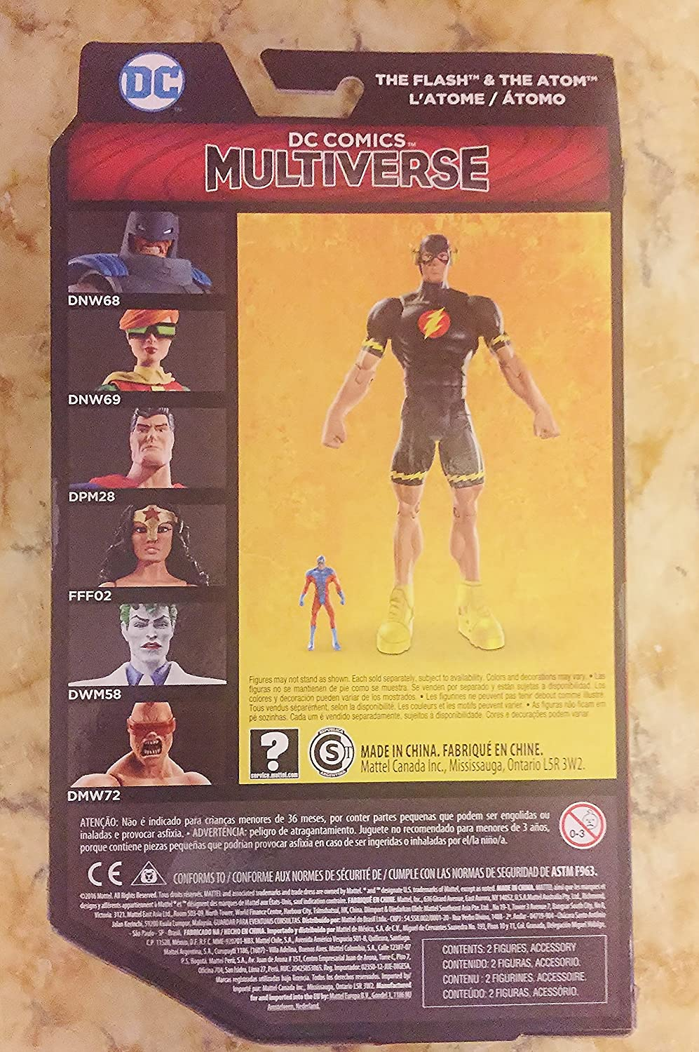 DC Multiverse The Flash and The Atom Figures from The Dark Knight Returns New