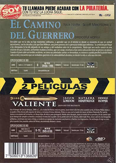 Amazon.com: El Camino Del Guerroro (Peaceful Warrior) / Valiente (Jason and the Argonauts) [NTSC/REGION 1 & 4 DVD. Import-Latin America] Audio English and ...