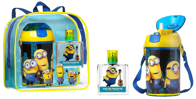 Minions Coffret: Eau De Toilette Spray 50ml/1.7oz + Water Bottle + Backpack - 2pcs+1bag Air Val International P5416
