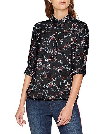 a7492156f55452 TOM TAILOR Damen Geblühmte Langarm Rollkragen Bluse