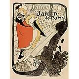 GARDENS PARIS JANE AVRIL TOULOUSE- LAUTREC FRANCE VINTAGE POSTER ART PRINT 12x16 inch 30x40cm 924PY