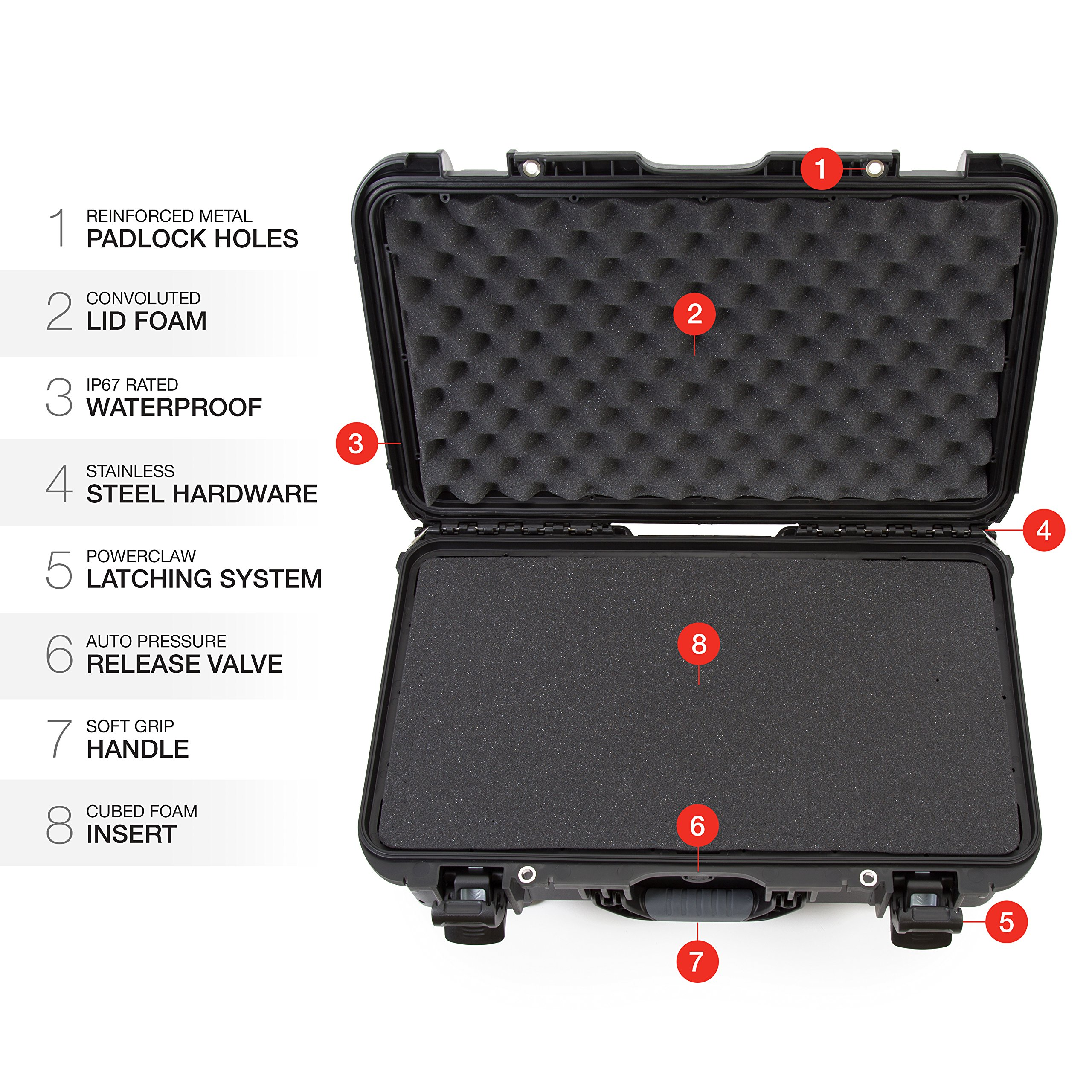 Nanuk 935 Waterproof Carry-On Hard Case with Wheels and Foam Insert - Black by Nanuk (Image #9)