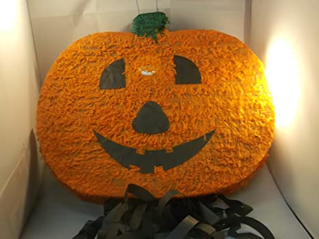 Zucca Halloween Cartapesta.Pentolaccia Pignata Party Halloween Zucca 46x42x10 Cm Da Riempire