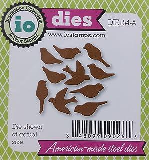 Impression Obsession cutting dies DIE079 Birch Trees /& Birds metal die set