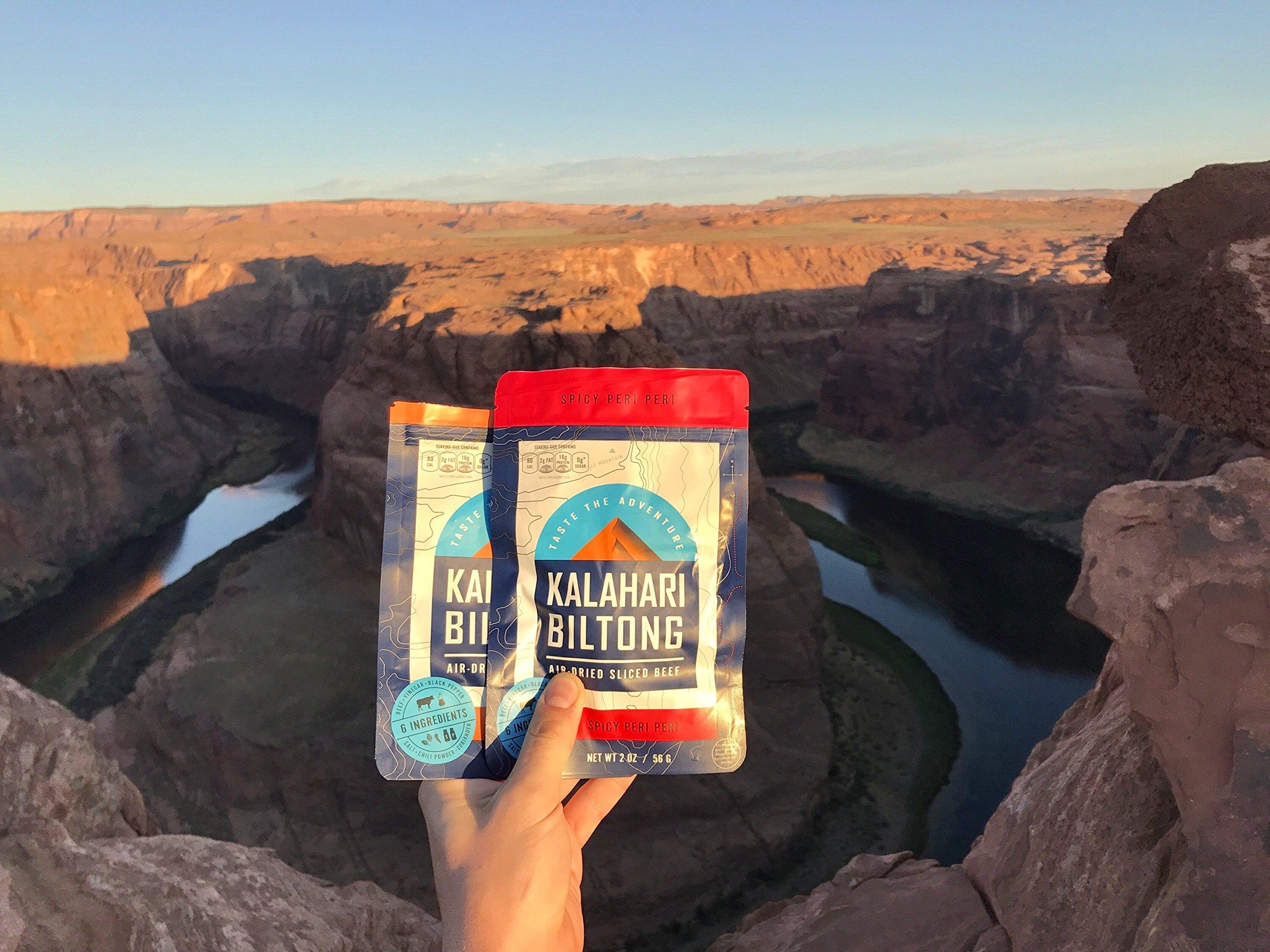 Kalahari Biltong | Air-Dried Thinly Sliced Beef | Spicy Peri Peri | 2oz (Pack of 8) | Zero Sugar | Keto & Paleo | Gluten Free | Better than Jerky by Kalahari Biltong (Image #4)