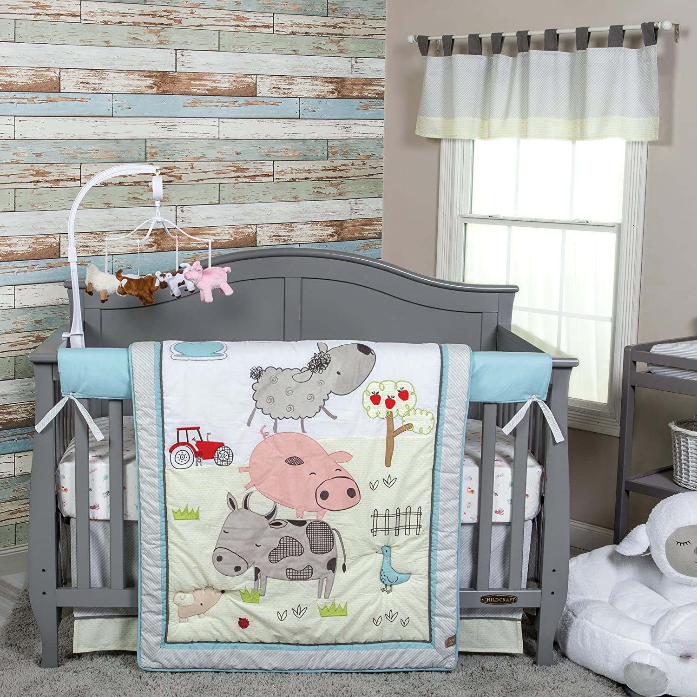 106719 3 Piece Crib Bedding Set Trend Lab Baby Barnyard