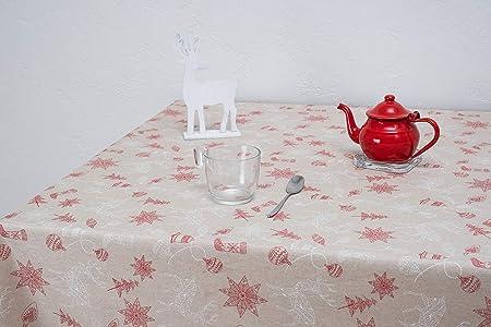 Boheme Beret Mantel Navidad, ALGODÓN /50% POLIÉSTER, Beige, 140 x 200: Amazon.es: Hogar