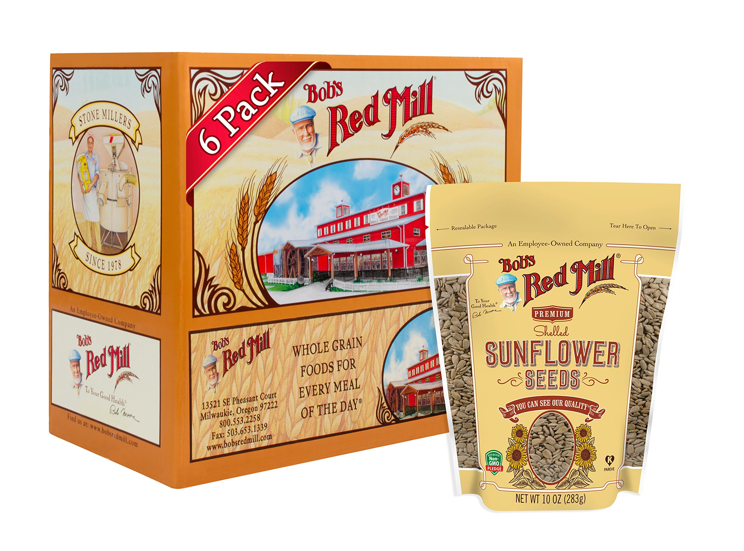 Bob's Red Mill Raw Shelled Sunflower Seeds, 10-ounce (Pack of 6)