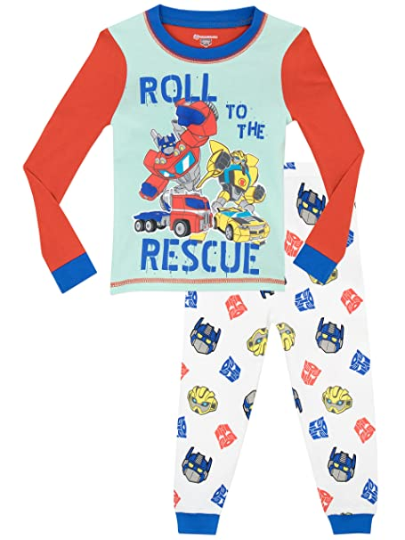 Transformers - Pijama para Niños - Rescue Bots - Ajuste Ceñido - 18 - 24 Meses