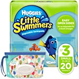 Huggies Little Swimmers Disposable Swim Diaper, Swimpants, Size 3 Small (16-26 Pound), 20 Count., with Huggies Wipes…
