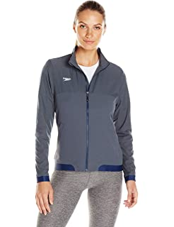 ece28e8997 Amazon.com : Speedo Streamline Warm-Up Jacket Adult Female Navy ...