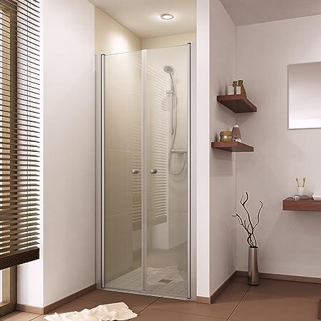 Mampara de ducha colgante de cristal para puerta de ducha para puerta Deutsche compartimento Handels de calidad. B: 75 – 110 cm de misma Precio. H: 200 cm: Amazon.es: Hogar