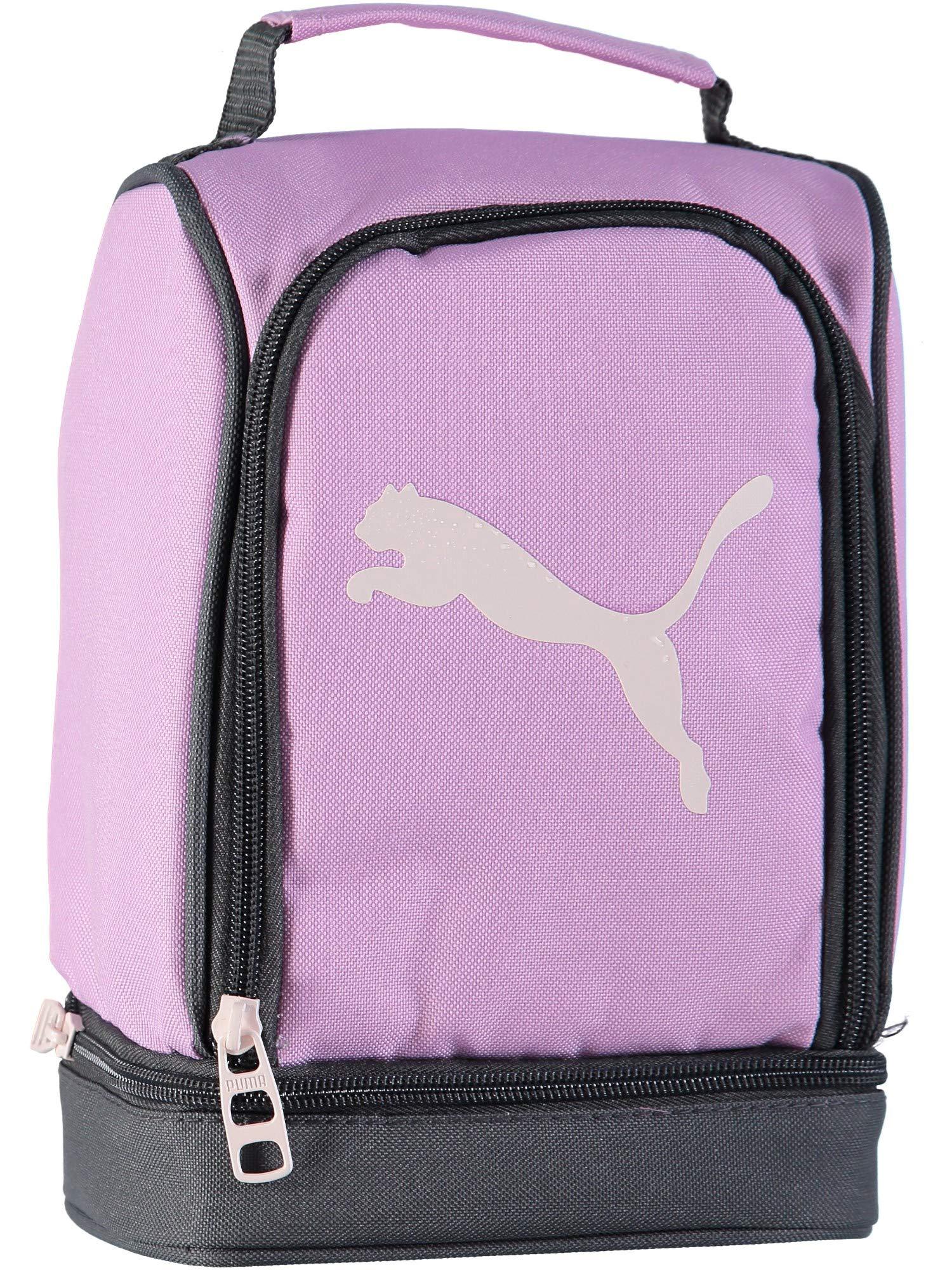 PUMA Big Girls' Evercat Stacker 2.0 Lunch Box, Pink/Grey, OS