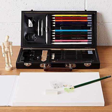 FABER-CASTELL Kit Manga PITT Artist d/ébutant 8 pieces Stylo//Crayon//Mod/èle//Bloc