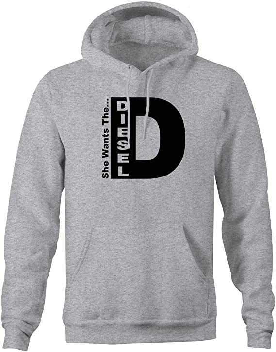 She Wants the D Diesel Funny Truck Sweatshirt at Amazon Mens Clothing store: