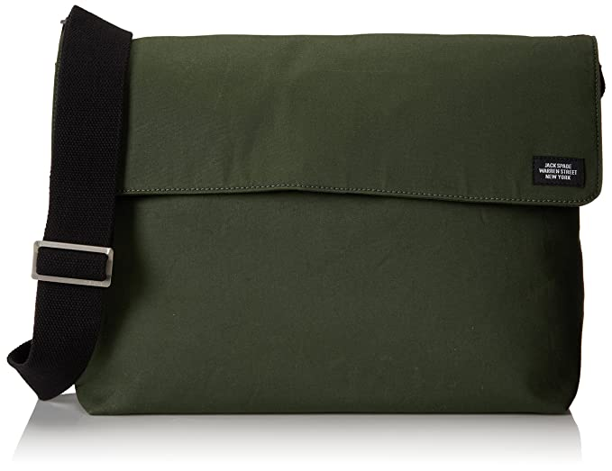 8bb97c96e5d3 Amazon.com: Jack Spade Men's New Field Messenger Bag, Green, One ...