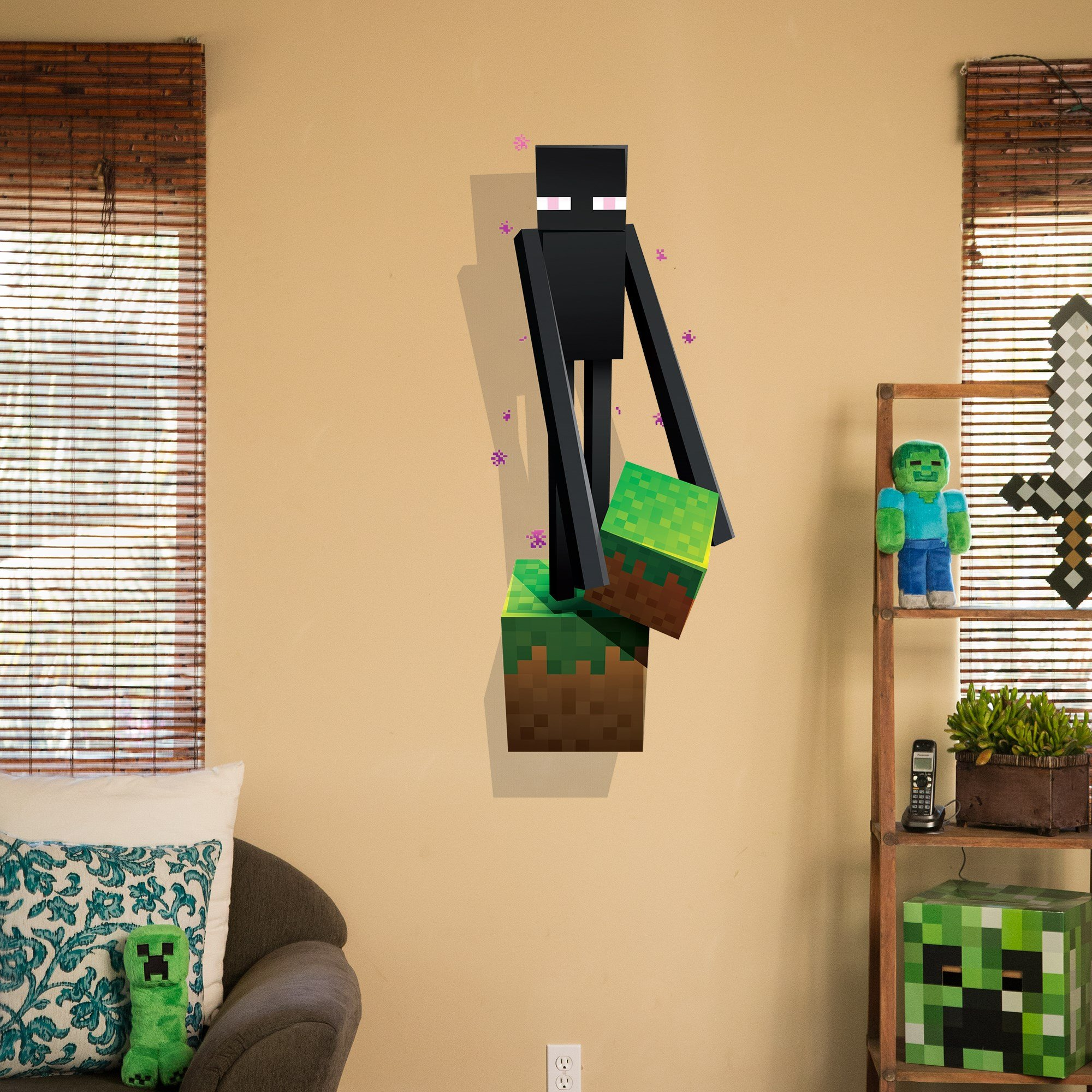 JINX Minecraft Wall Cling Decal Set (Creeper, Enderman, Pig, Cow) by JINX (Image #4)