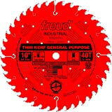 Freud LU86R010 10-Inch 40 Tooth ATB Thin Kerf General Purpose Saw Blade with 5/8-Inch Arbor and PermaShield Coating