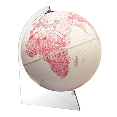 "Replogle Mother's Day Raised Relief Globe with Velvety Finish and Clear Acrylic Base World Globe(12""/30cm Diameter) Made in USA: Office Products"