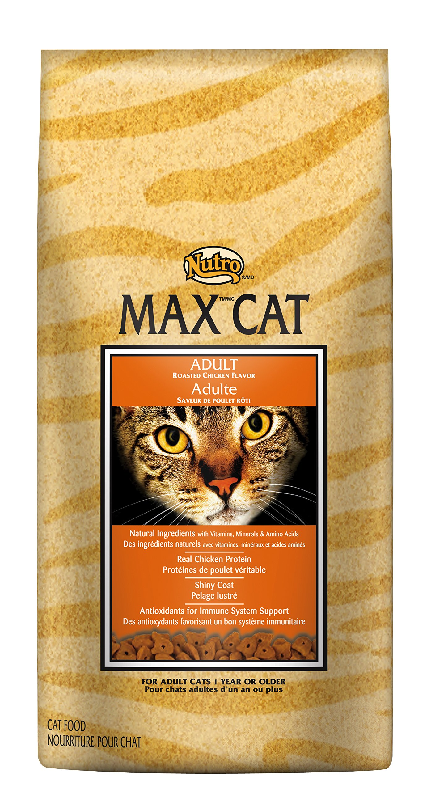 Nutro Max Cat Adult Roasted Chicken Flavor Dry Cat Food (1)16 Pounds; Rich In Nutrients And Full Of Flavor; Supports Healthy Joints & Healthy Skin And Coat by Nutro