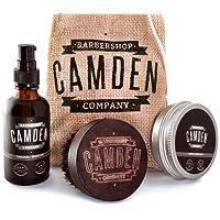 Camden Barbershop Company: Set deluxe para el cuidado de la barba - incluye aceite,