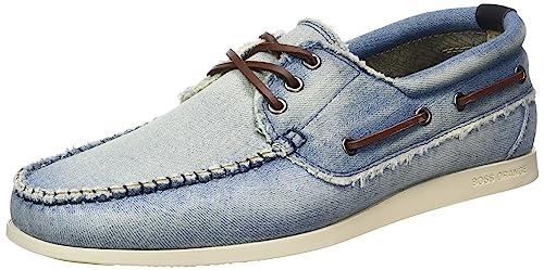 BOSS Orange Nydeck_MOCC_dn 10197210 01, Mocasines para Hombre, Azul (Light/Pastel Blue 450), 45 EU: Amazon.es: Zapatos y complementos