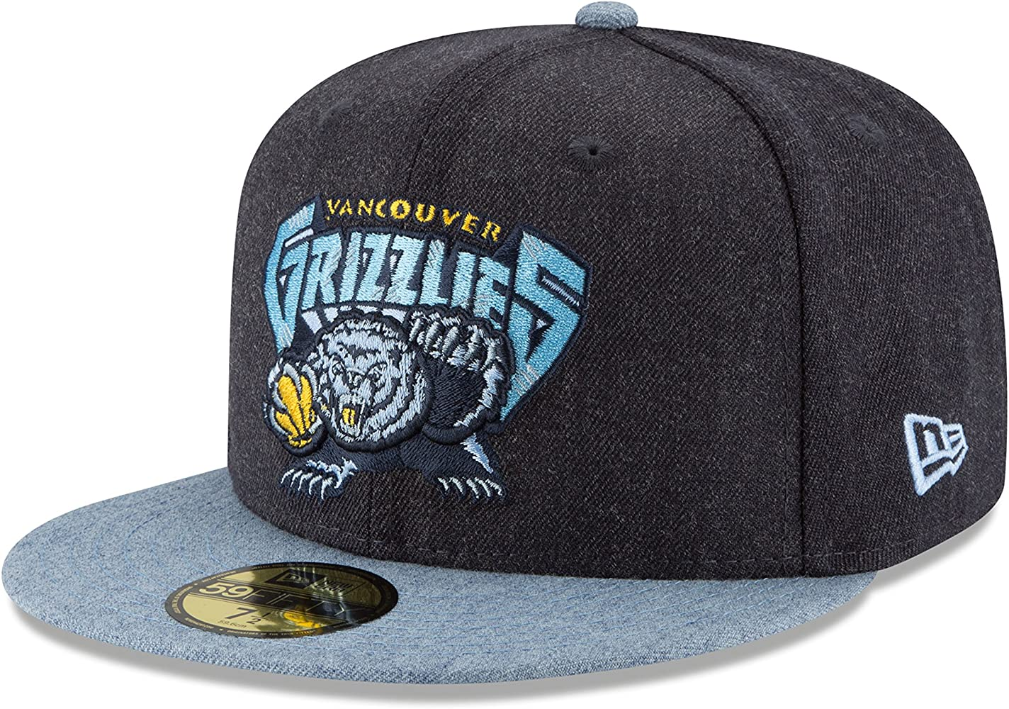 Vancouver Grizzlies Dark Gray White Teal New Era 59Fifty Fitted Hat Red Lid
