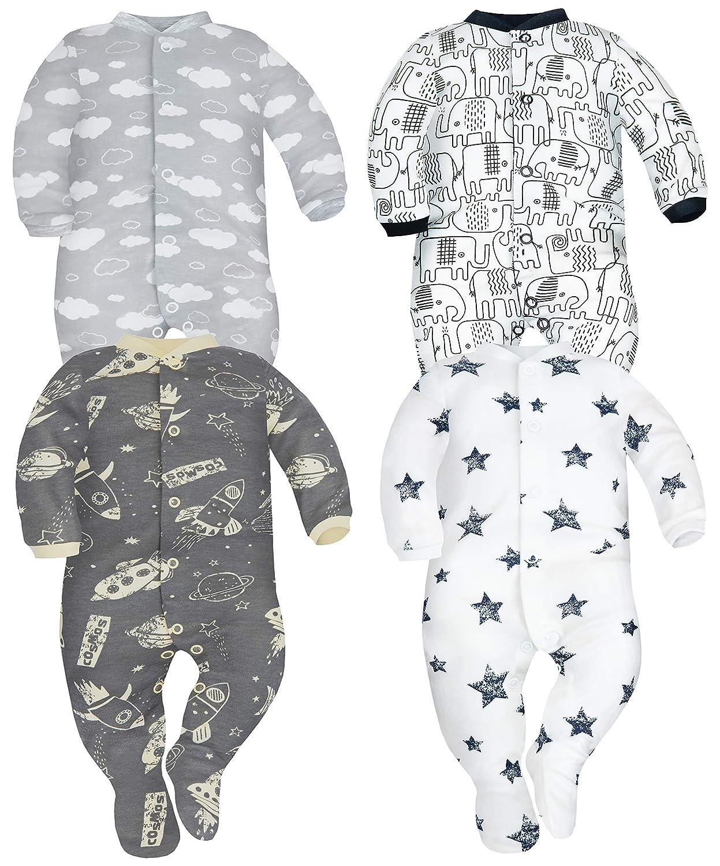 SIBINULO Gar/çons Filles Pyjama B/éb/é Grenouillere Lot de 4