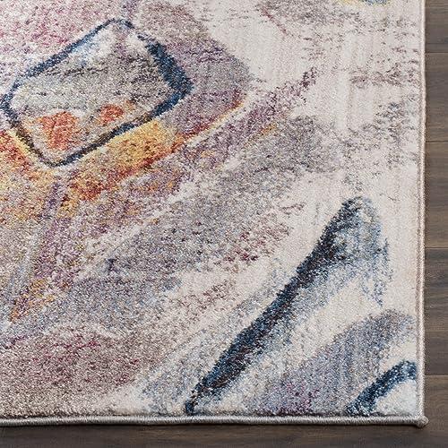 Safavieh Bristol Collection Area Rug, 9 x 12 , Lavender Light Grey
