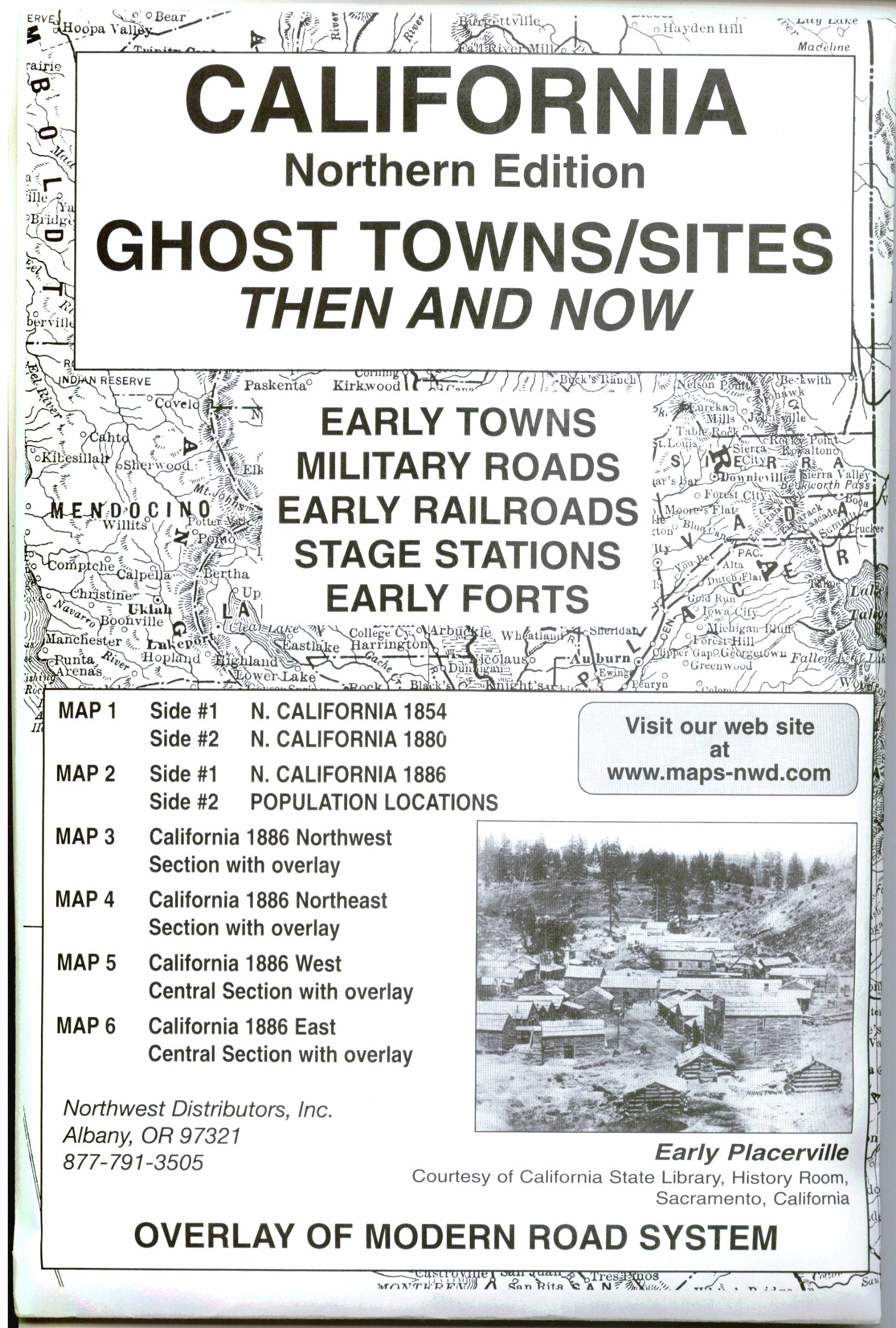 Download California, North Ghost;Towns 6 Maps Then & Now pdf epub
