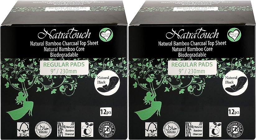 NatraTouch Compostable - toallas sanitarias de carbón de bambú ...