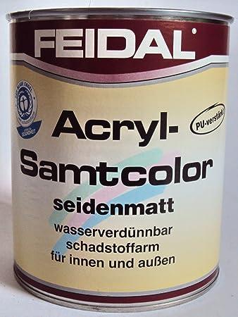 Feidal Acryl Samtcolor Klarlack Speziallack F Stahl Alu Zink