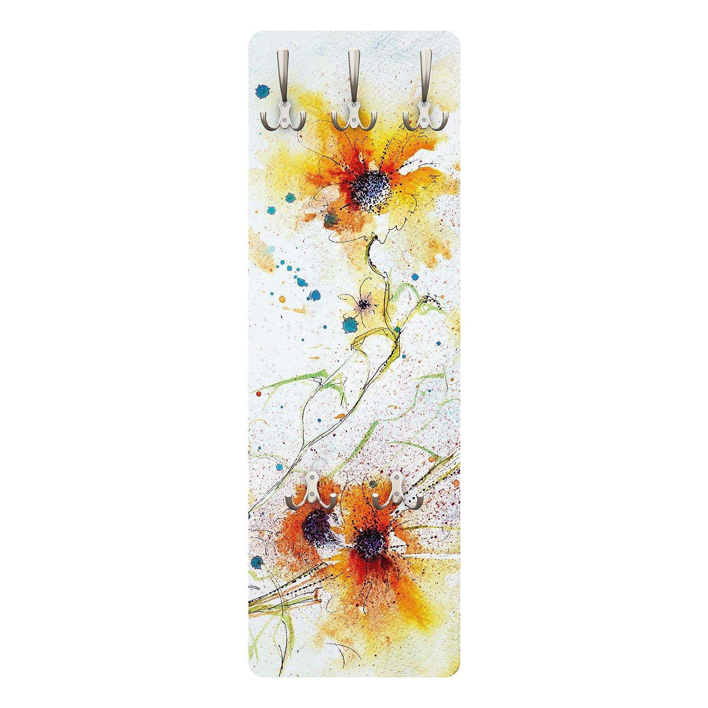 Apalis Appendiabiti–Painted Flowers 139x 46x 2cm,–Appendiabiti, appendiabiti da parete, appendiabiti, appendiabiti da parete, appendiabiti, attaccapanni -Appendiabiti 79269