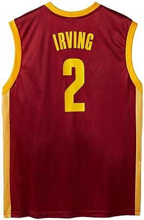 Adidas NBA Cleveland Cavaliers Kyrie Irving Camiseta de Manga Larga para Hombre, Hombre, Granate
