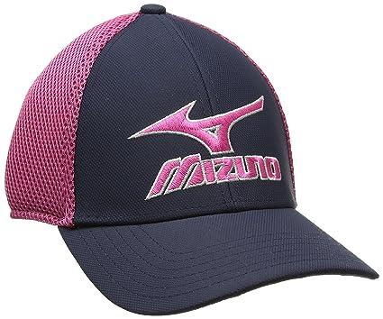 68f4b72e700 Mizuno 2017 Phantom Mens Performance Hat Stretch-Fit Golf Cap Navy Magenta
