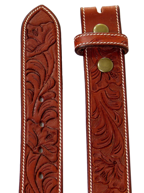 femme//homme sans boucle//motif floral grav/é Thor Equine Ceinture style western//cowgirl//cowboy